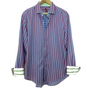 Robert Graham Stripe Gingham Flip Cuff Button Down